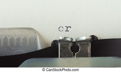 Crisis - Typed on a old vintage typewriter.