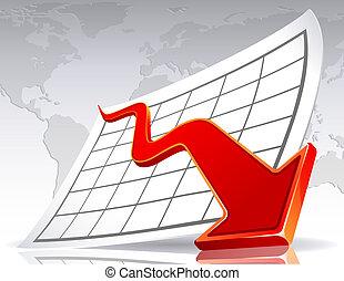 Crisis - Vector illustration - Business crisis diagram