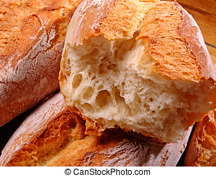 Crisp crusty white bread - Freshly baked crisp crusty white...