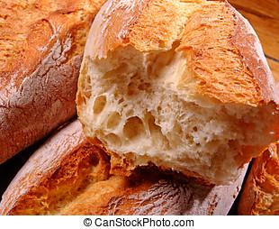 Crisp crusty white bread - Freshly baked crisp crusty white...