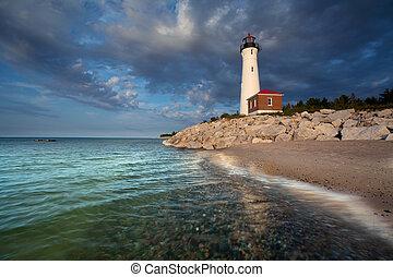 Crisp Point Lighthouse.