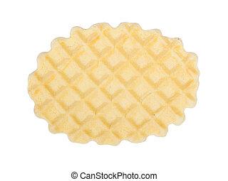 Crisp waffle isolated