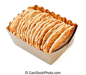 crisp waffles in paper bascet