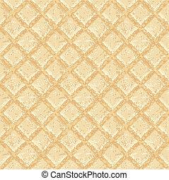 Crisp waffles pattern seamless texture - EPS 10 vector...
