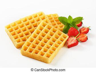 Crisp waffles - Studio shot of Belgian waffles