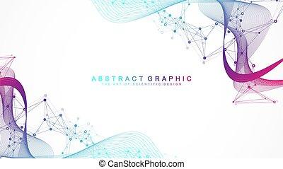 crispr, atom, neurons., struktur, groß, wissenschaft, oder, ...