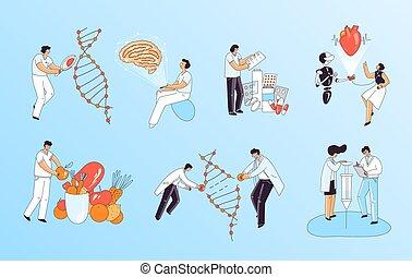 crispr, menschliche , mediziner, forschung, studieren, ...