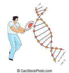 crispr, therapie, gen, research., informationen, spirale, ...