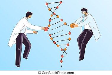 crispr, therapie, gen, spirale, genetisch, abbildung, ...