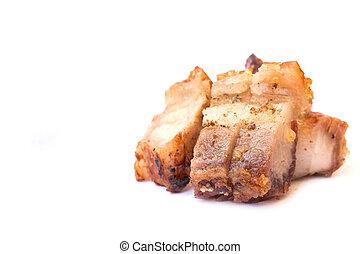 Crispy skin fried pork