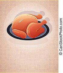 Crispy skin roasted chicken - Roast chicken with crispy skin...