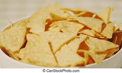 Tortilla chips in a cup