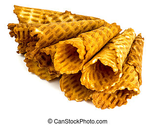 Crispy wafer rolls