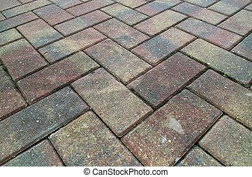 criss cross brick sidewalk