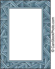 CrissCross Frame - Vector art in Illustrator 8. Hand-drawn,...