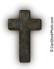 cristão, crucifixos, branco, fundo, -, 3d, ilustração