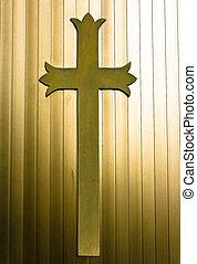 cristão, crucifixos, fundo