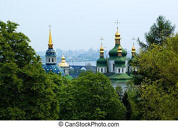 cristão, igreja, em, kiev, verão