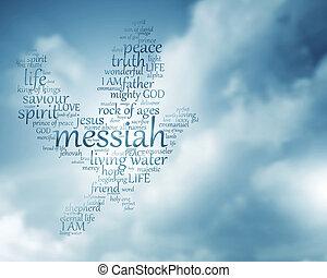 cristão, pomba, texto