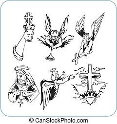 cristão, religião, -, vetorial, illustration.