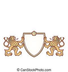 crista, par, leões