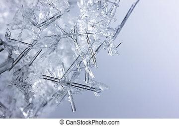cristais, closeup, gelo