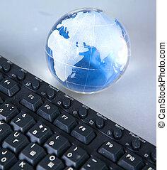 cristal , σφαίρα , ηλεκτρονικός υπολογιστής , γη