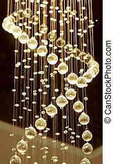 cristal, araña de luces, moderno