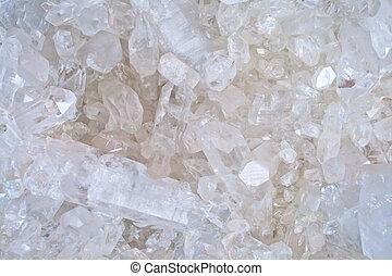 cristal, blanc, quartz