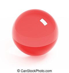 cristal, boule blanche