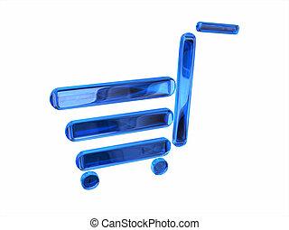 Cristal cart - Metaphorical cart made in blue cristal