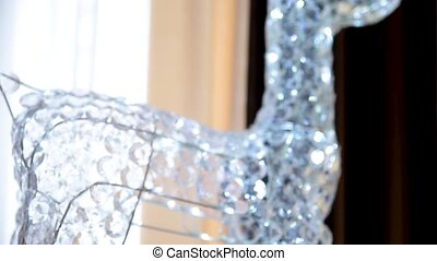 cristal, cerf, verre