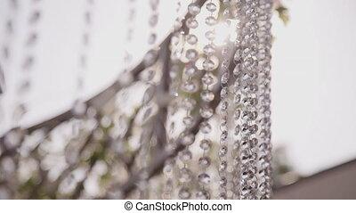cristal, closeup, vue intérieur, éléments, mariage, hall., ...