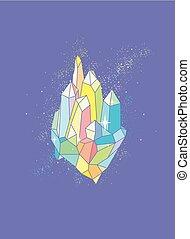 cristal, conception, illustration