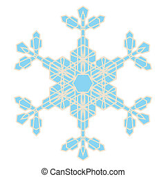 cristal, copo de nieve