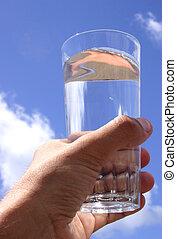 cristal del agua