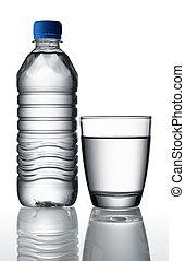 cristal del agua, botella