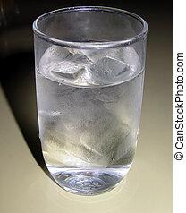 cristal del agua, helado