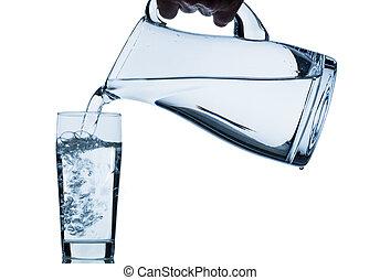 cristal del agua, jarra