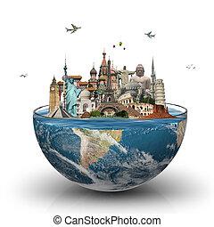 cristal del agua, mundo, monumentos