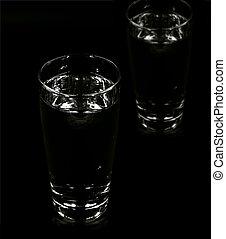 cristal del agua, oscuridad