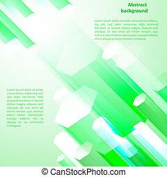 Cristal green prism. Vector illustration for your business presentation