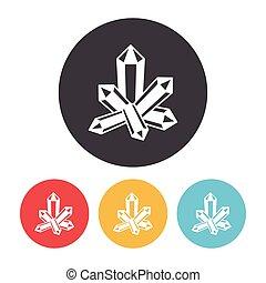 cristal, icône