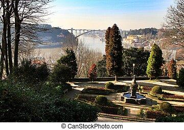 cristal, idyllique, oporto, palais, jardins