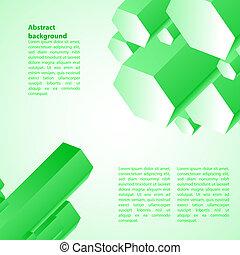 cristal, ilustración negocio, fondo., vector, verde, hielo,...