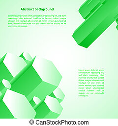 cristal, ilustración negocio, fondo., vector, verde, hielo, ...