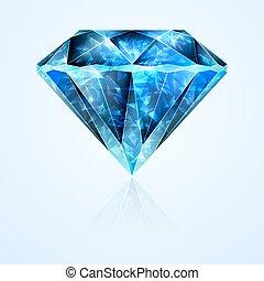 cristal, jóia, safira, faceted, pedra