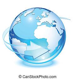 cristal, la terre