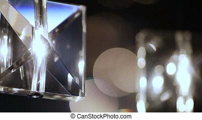 cristal, lampes