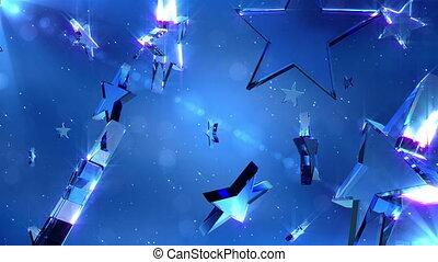 cristal, loopable, étoiles